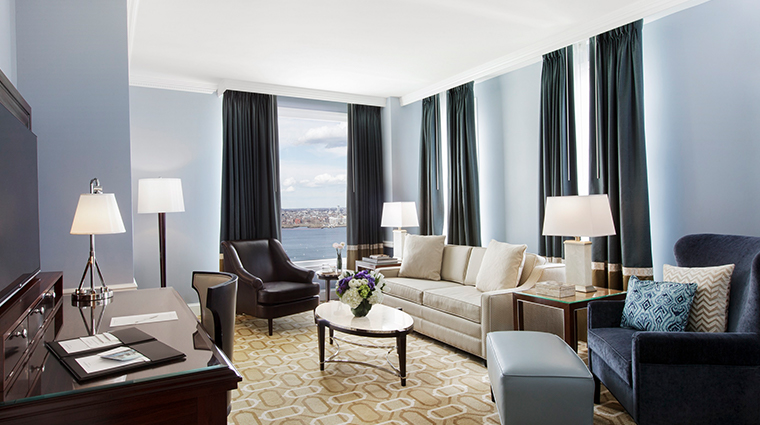 boston harbor hotel harbor suite living room