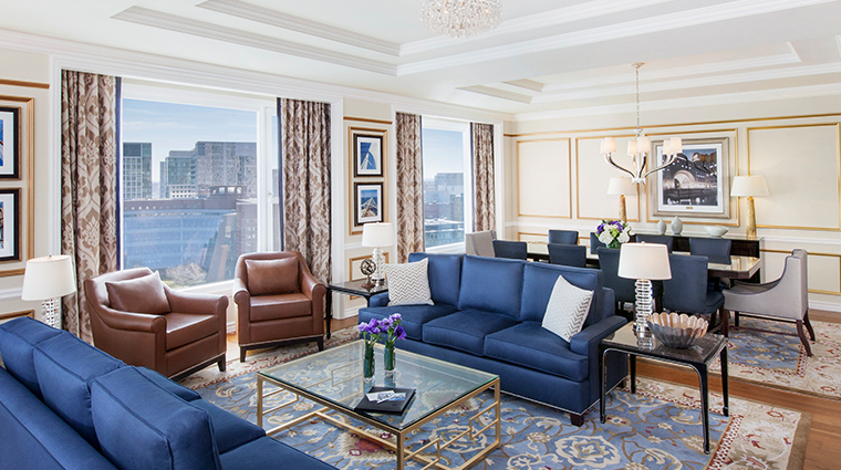 boston harbor hotel presidential suite living room