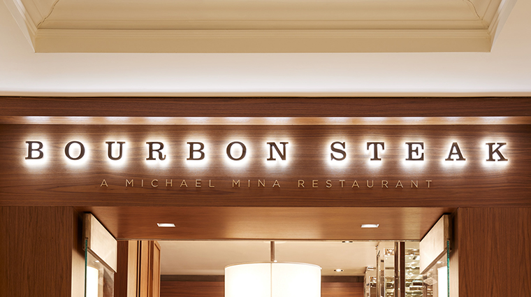 bourbon steak monarch beach entrance sign