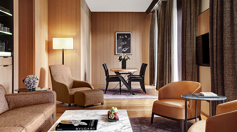 Bulgari Hotel Milan premuim suite living room