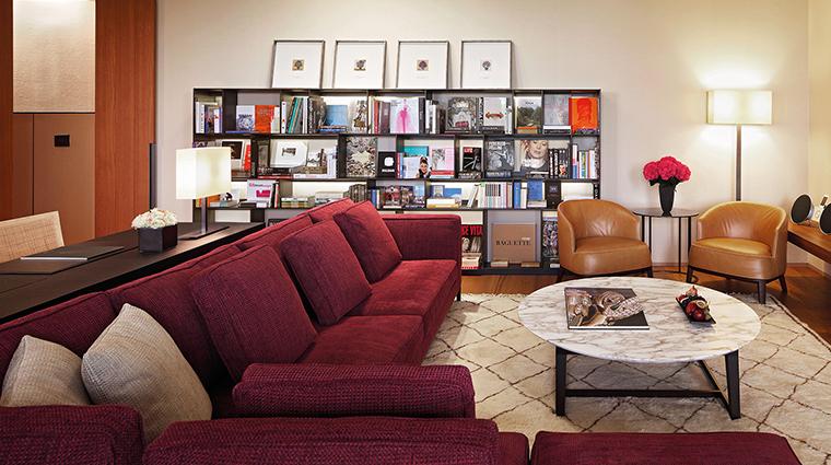 Bulgari Hotel Milan suite living room