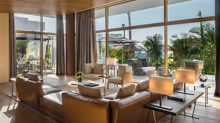 bulgari resort and residences dubai beach villa living room