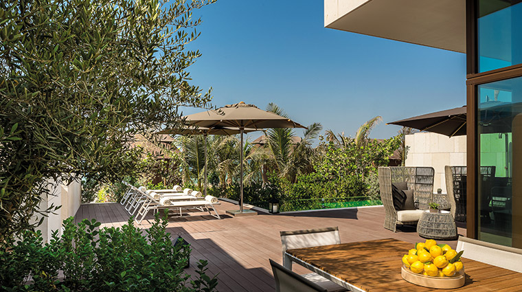 bulgari resort and residences dubai beach villa outside