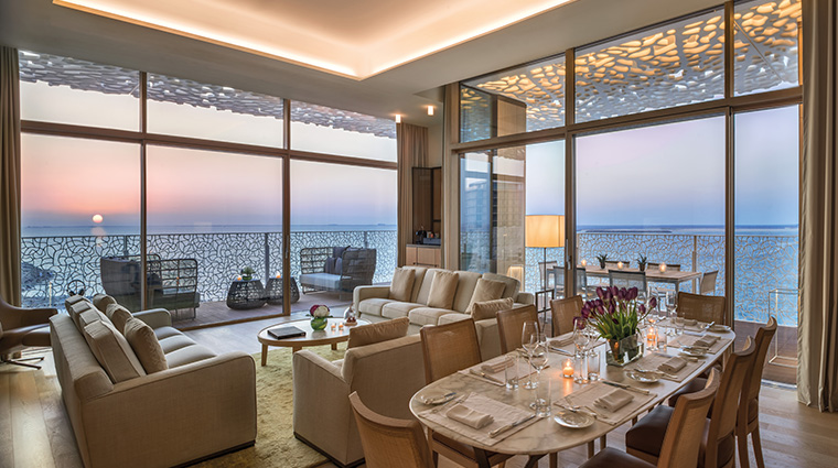 bulgari resort and residences dubai suite living room