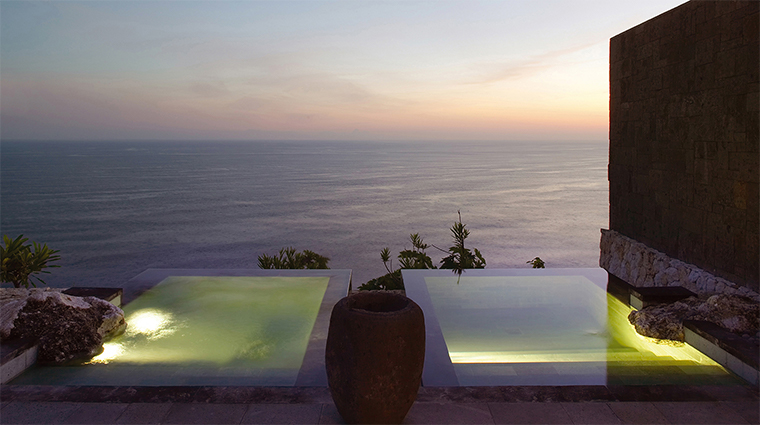 bulgari resort bali hot cold plunge pool