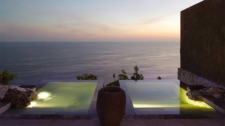 bulgari resort bali hot cold plunge pool