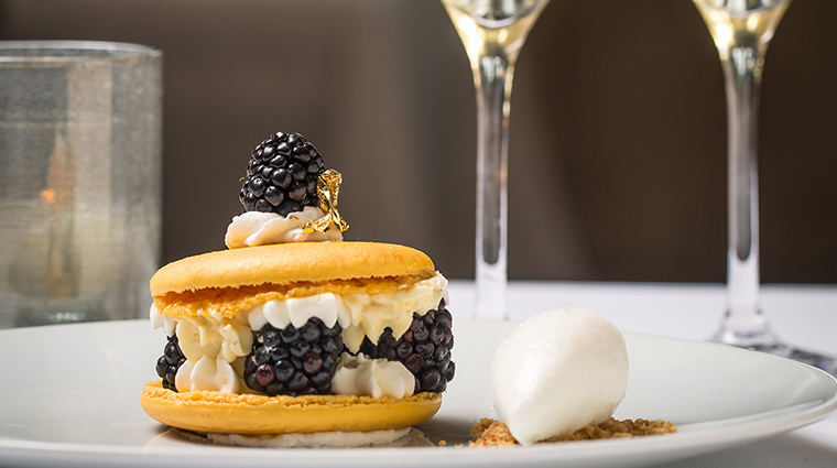 cafeacute boulud blackberry dessert