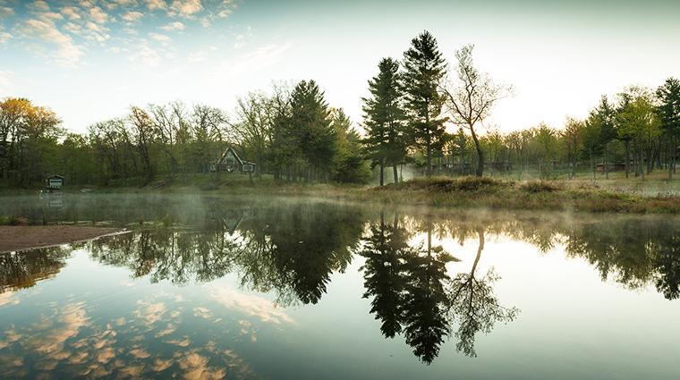 Canoe Bay lake fog