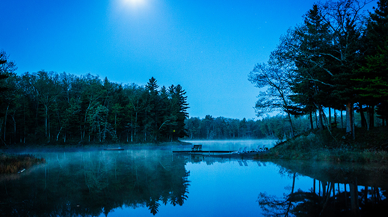 Canoe Bay night lake
