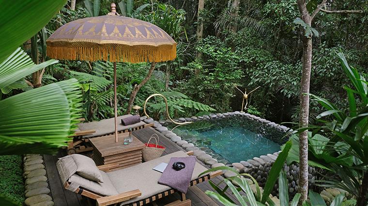 capella ubud bali rainforest tent saltwater pool