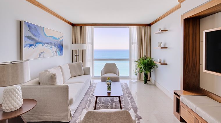carillon miami wellness resort oceanfront two bedroom living room