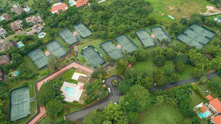 casa de campo resort villas tennis aerial