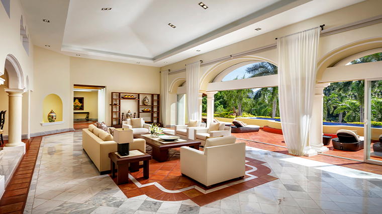 casa velas puerto vallarta presidential suite livingroom