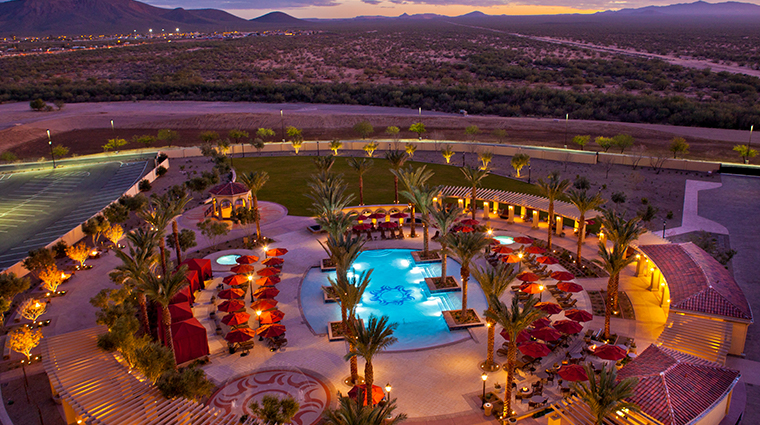 casino del sol resort pool sunset