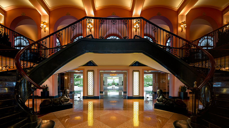 condado vanderbilt hotel entrance lobby and stairs