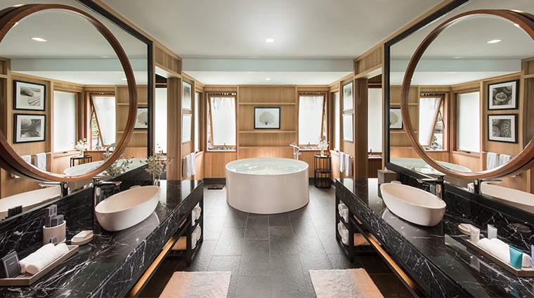 conrad bora bora nui over water villa bathroom