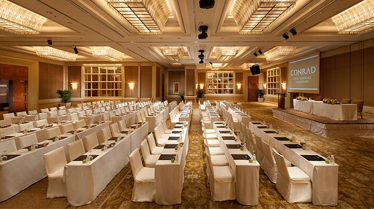 conrad centennial singapore ballroom classroom seating