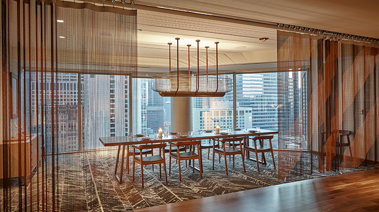 conrad chicago Baptist & Bottle private dining room