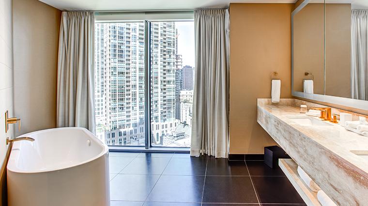 conrad chicago suite bathroom