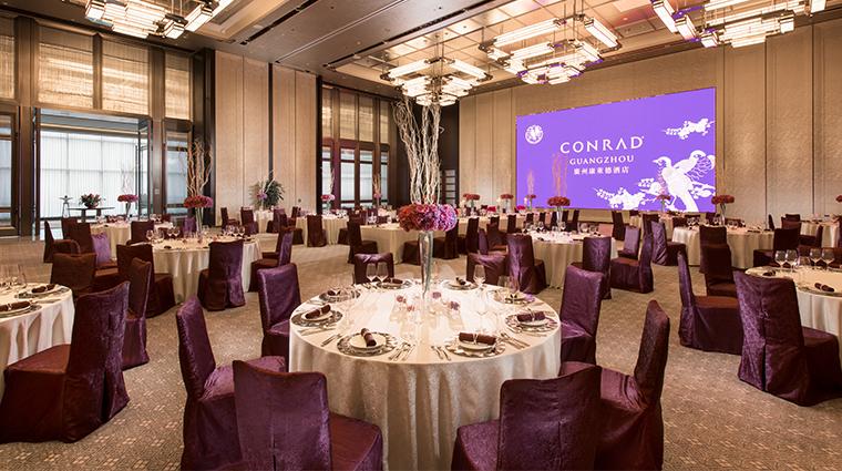 conrad guangzhou ballroom purple