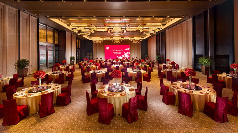 conrad guangzhou ballroom red