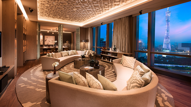 conrad guangzhou suite living room