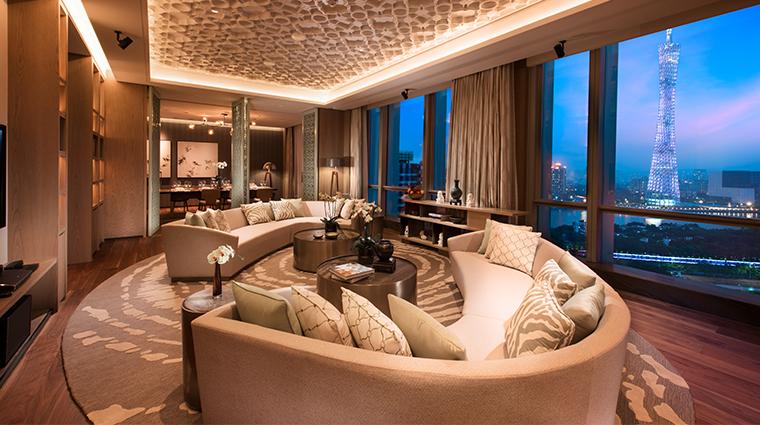 conrad guangzhou suite living room