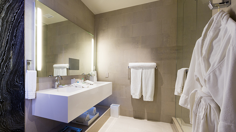 conrad indianapolis contemporary suite bathroom
