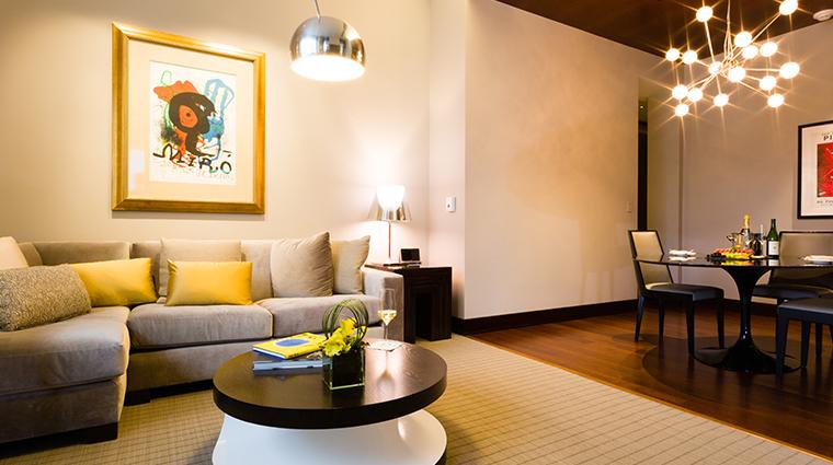 conrad indianapolis modernism suite dining