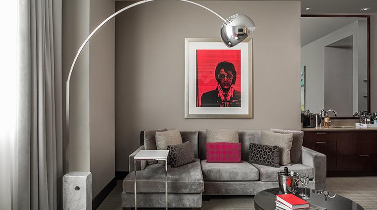 conrad indianapolis suite living room sofa