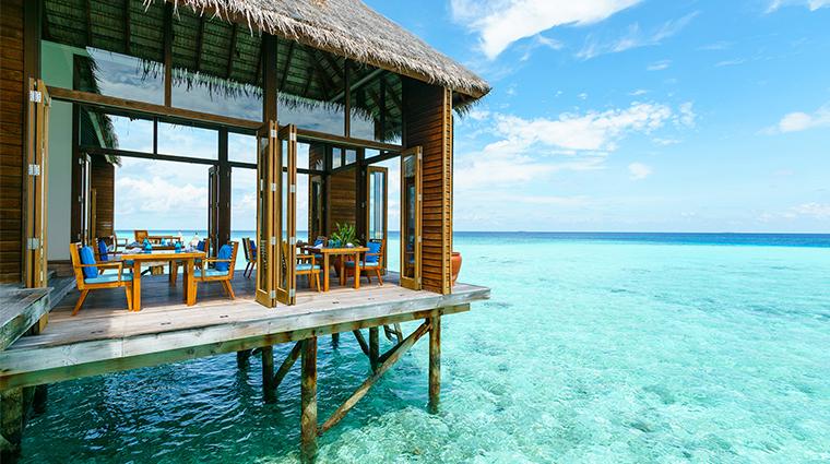 conrad maldives rangali island spa restaurant