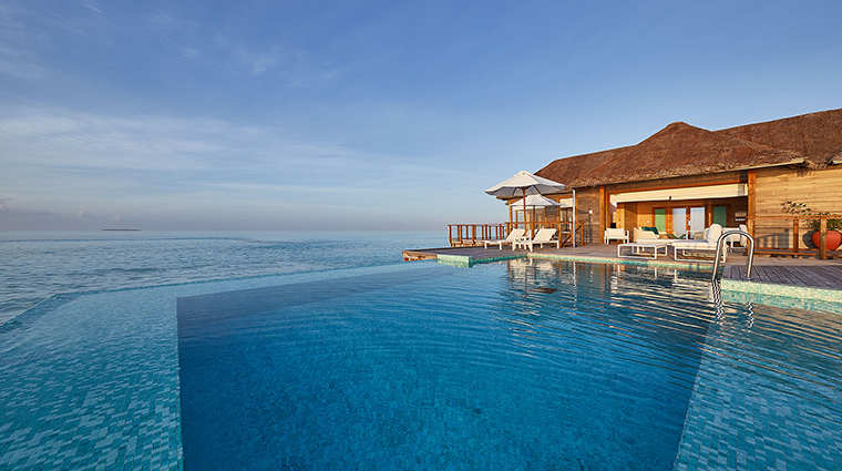 conrad maldives rangali island sunset water villa pool deck