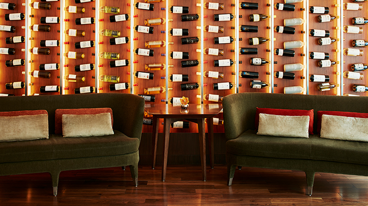 conrad new york Atrio wine wall close