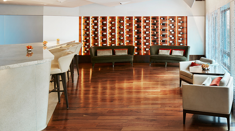 conrad new york Atrio wine wall