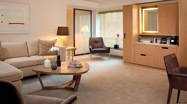 conrad new york premier suite living room
