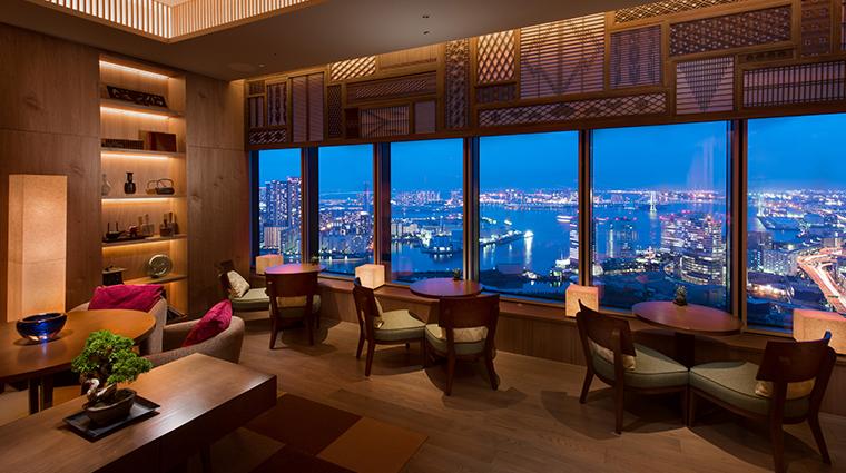 conrad tokyo executive lounge bay view
