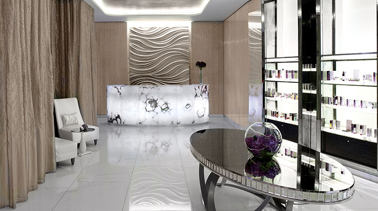corinthia hotel london ESPA life spa reception