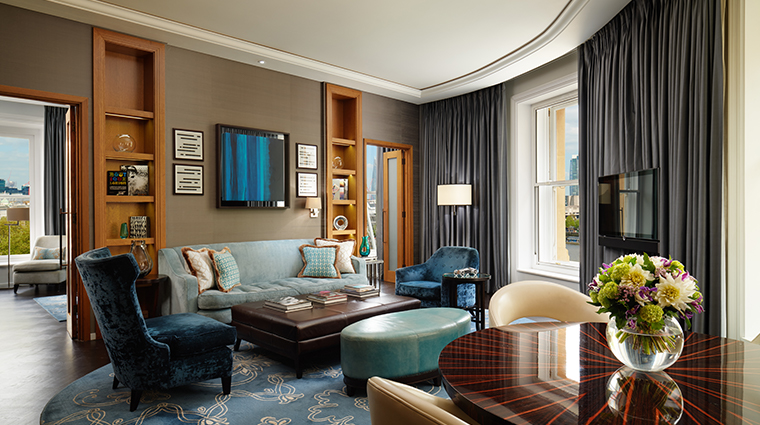 corinthia hotel london river suite living room