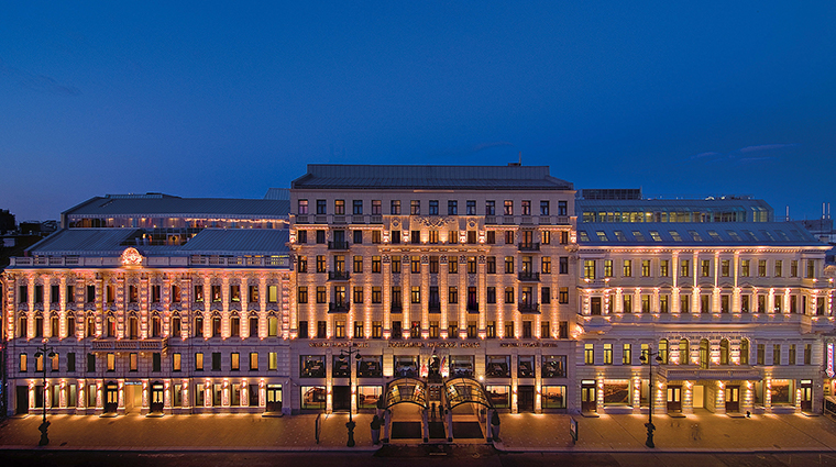 corinthia st petersburg exterior night