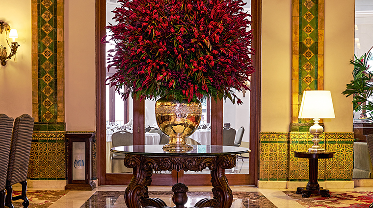 country club lima hotel lobby arrangement
