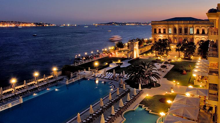 cragan palace kempinski istanbul exterior night