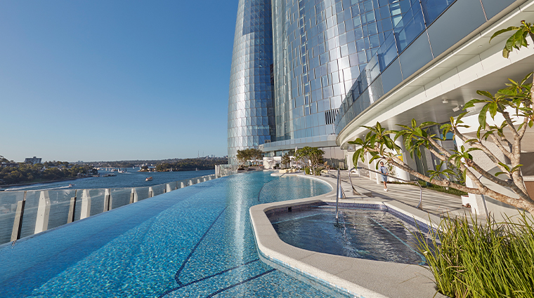 crown towers sydney exterior pool day