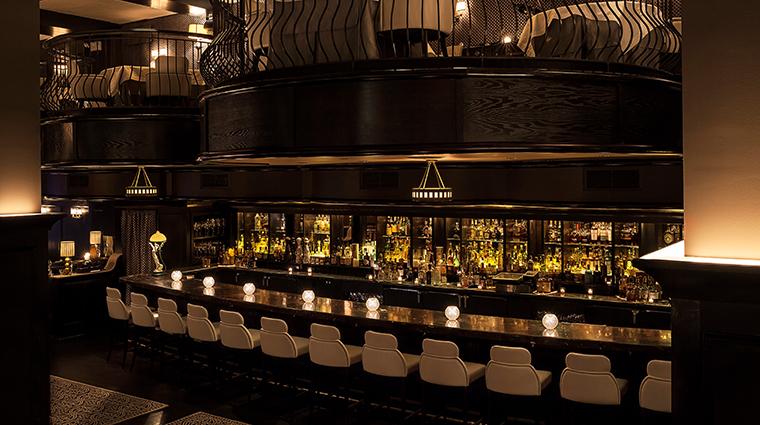 del posto bar and seating