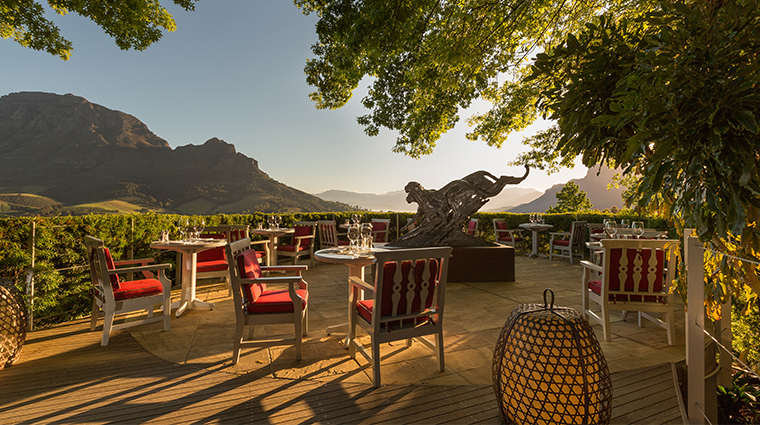 delaire graff lodge restaurant terrace