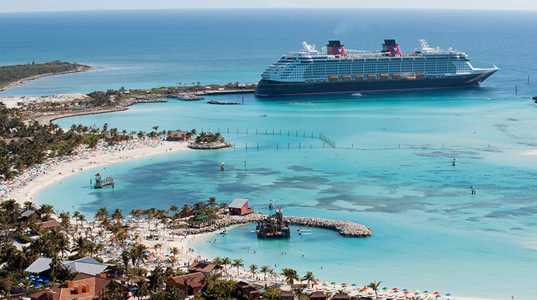 disney cruise line docked at port