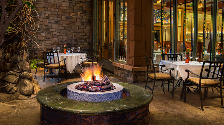 disneys grand californian hotel spa firepit