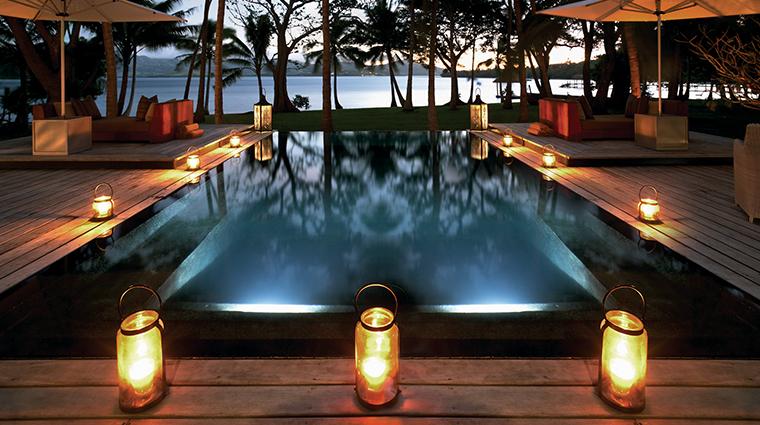 dolphin island infinity pool twilight
