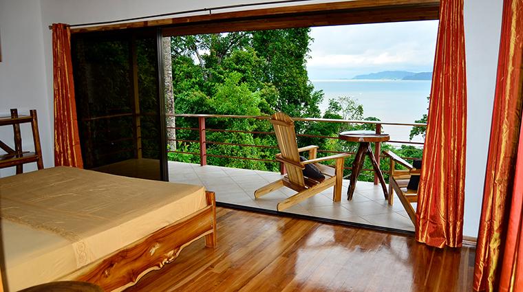 drake bay getaway resort bungallow bed view