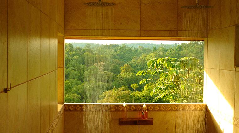 drake bay getaway resort cabin shower view