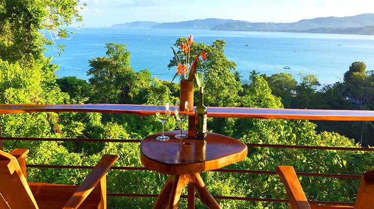 drake bay getaway resort deck view